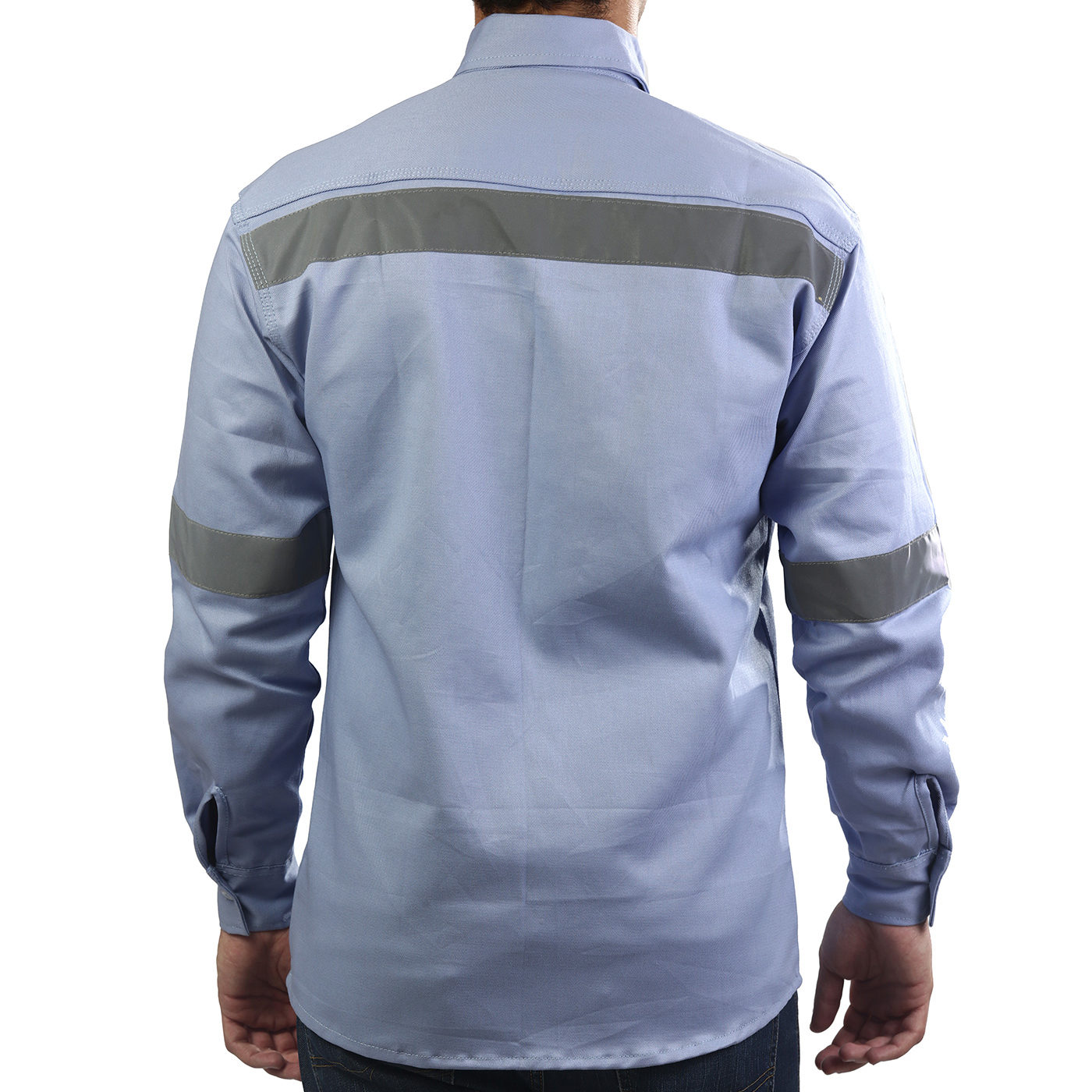 Camisa en Dril Cuello Corbata con Reflectivo | Camisas