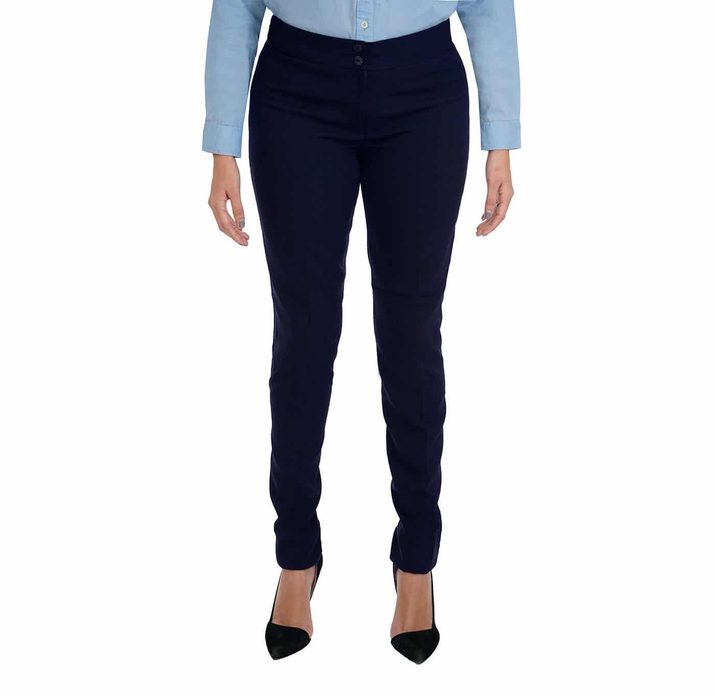 Pantalon Lino Stretch Dama Uniformes Ejecutivos Para Dama Uniformes Para Oficina