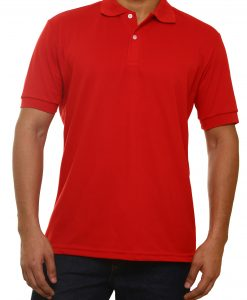 tipo polo dry fit rojo frente